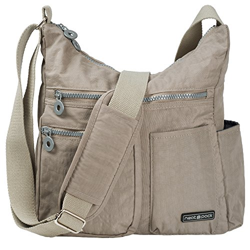 NeatPack Crossbody Bag for Women with Anti Theft RFID Pocket (Grey) ()