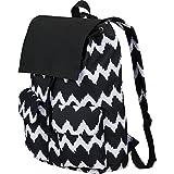 XtitiX Wave Rucksack Lightweight Travel Business School Tech Backpack, Black