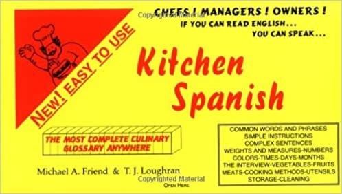 Kitchen Spanish - a Quick Phrase Guide of Kitchen and ...