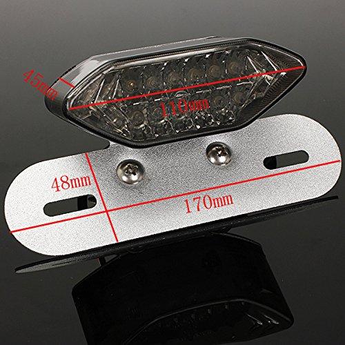 12V 20 led Feux Eclairage Lampe Arri/ère Clignotant Frein Plaque pour moto noir TM SYG