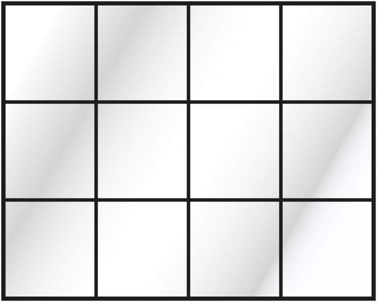 CustomGlass Espejo Pared Decorativo Modelo Industrial 2 (Rectangular 100 x 80 cm)