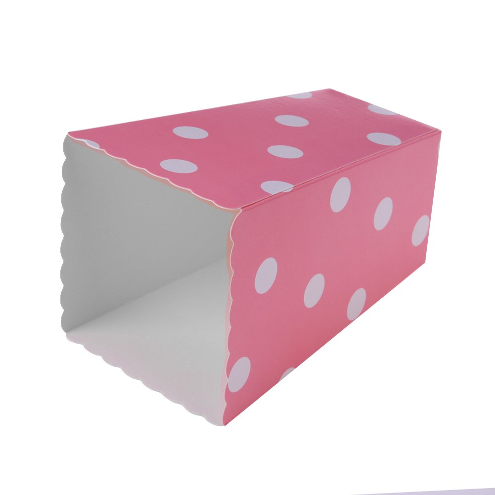 Stripe and Dot Pattern Deco Mixed Hoocozi 24pcs Popcorn Boxes Cardboard Candy Container for Party Favors Supplies Pink