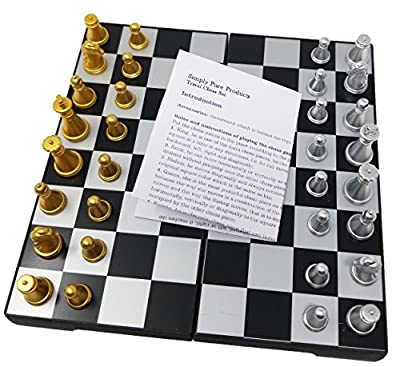 Folding Chess Set Magnetic Board for Travel Perfect for Kids or Adults, Mini Magnetic Travel Chess Board Set works great in the car, at the park or anywhere on the go!