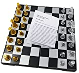 Magnetic Travel Chess Set with Storage, Folding Chess Set, Mini Chess Board, Adult Games, works great in the car, at the park or anywhere on the go!