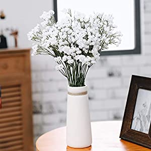 Olivachel Artificial Flowers Baby's Breath Gypsophila Real Touch Flowers Decoration DIY Gift for Wedding Party Home Garden 83