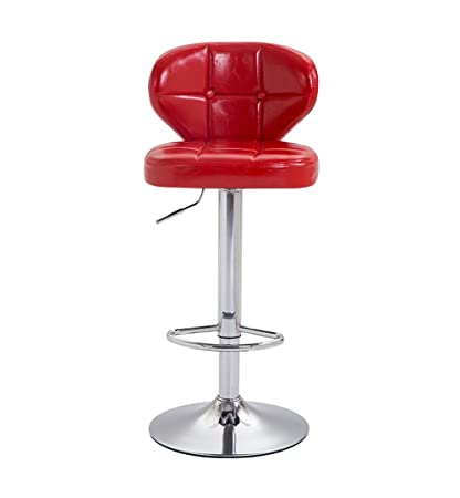 Iron Art Barstool Kitchen Breakfast Tall Chairs Counter Chair with PU Leather Seat High Back Bar