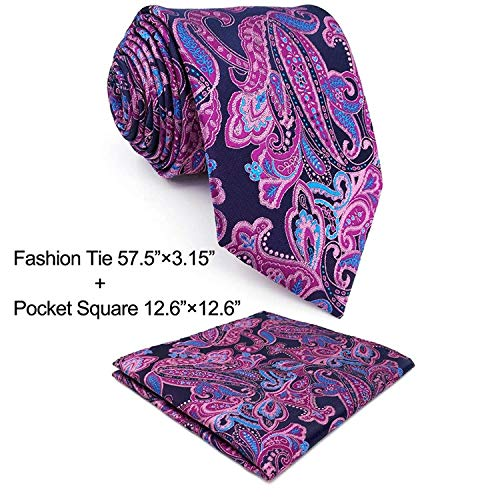 Mens Accessories Silk - Shlax & Wing Neckties Ties Paisley Blue Pink Men's Accessories Silk
