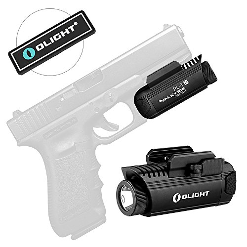 Bundle: Olight PL-1 II Valkyrie 450Lumens Cree XP-L CW Dual-Output LED Dedicated Pistol Light Gunlight with a LED Light, Second Generation Weapon Mounted Tactical Light,Black (PL1 -II)