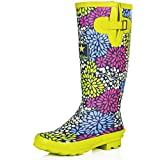 #7: Spylovebuy IGLOO Women's Adjustable Buckle Flat Welly Rain Boots
