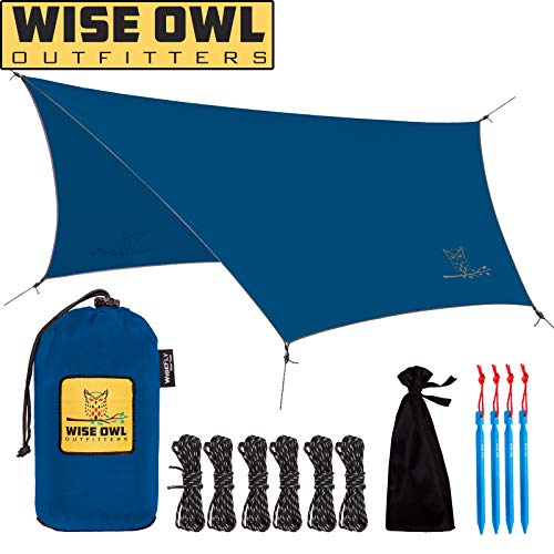 Wise Owl Outfitters Hammock Rain Fly Tent Tarp - The WiseFly Premium 11 x 9 ft Large Hex Waterproof...