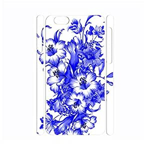 Designed Chinese Style White and Blue Porcelain Pattern Handmade Hard Plastic Phone Accessories Cover for Iphone 6 Case - 4.7 Inch by mcsharks