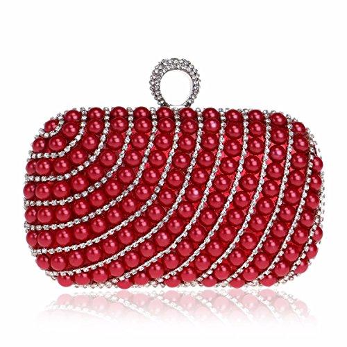 XJTNLB Una perla de cenar Bolsa Europea y americana, una señora banquete bolso, bolso de noche,Golden De Gules