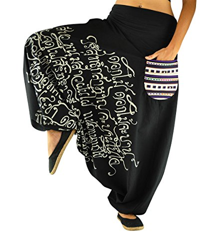 And Men Harem Phanvad Virblatt Drop Pants Black Women Crotch Lxl R4AjLq35