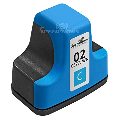 Speedy Inks - Remanufactured Replacement for HP 02 C8771WN HP02 Cyan Ink Cartridge