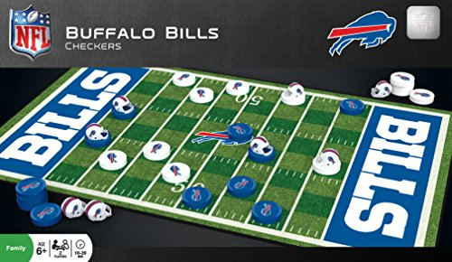 Buffalo Puzzle Bills - MasterPieces NFL Buffalo Bills Checkers Board Game