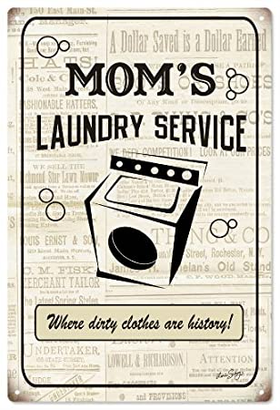 Amazon.com: Servicio de lavandería de mamá de anuncios ...