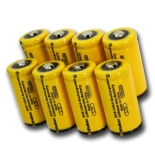 Arlo Batteries Rechargeable CR123A Lithium Batteries 3.7v 750mAh 8 Pack for Arlo Camera VMC3030 VMK3200 VMS3330 3430 3530 and Flashlight System