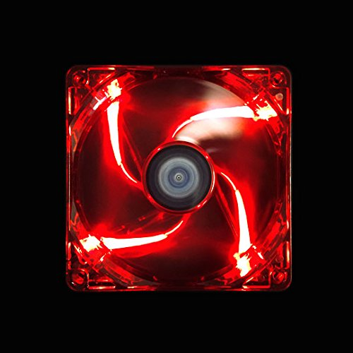 Apevia AF314L-RD 140mm 4pin+3pin Silent Red LED Case Fan, Connecting to Power Supply or Motherboard (3-pk) by Apevia (Image #2)