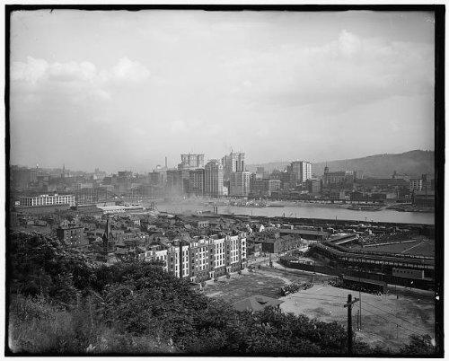 Photo: Waterfront,buildings,Pittsburgh,Pennsylvania,PA,Detroit Publishing - Pa Waterfront Pittsburgh