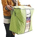YJYdada Storage Box Portable Organizer Non Woven Underbed Pouch Storage Bag Box (Green)