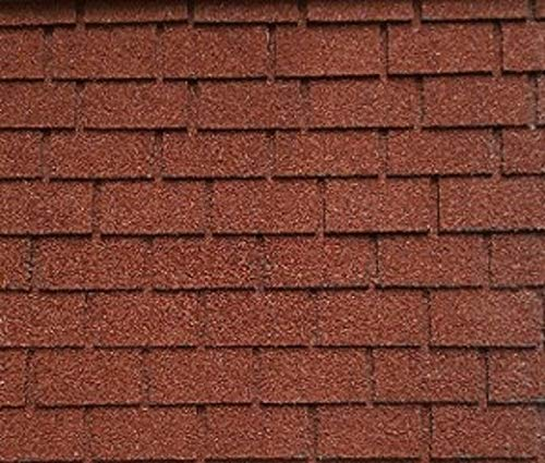 Dollhouse Miniature Red Square Asphalt Shingles, 177 Square Inches ()