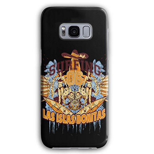 Las Islas Bonitas Fashion Skull Board 3D Samsung Galaxy S8 Plus Case | - Fashion Bonita