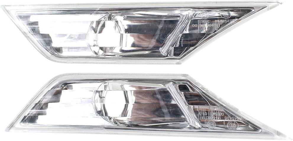 Pair Left/&Right Clear Side Marker Turn Lamp Light Left /& Right Without Bulb 34300-TET-H01 34350-TET-H01 for CIVIC 2015 2016 2017 DX EX-L EX-T LX Coupe EX Sedan