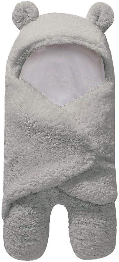 YWLINK Manta ReciéN Nacida Suave Felpa Caricatura Lana Artificial Abrazo Saco De Dormir Lindo Cobija Ropa De Bebe Regalo De Bebé ReciéN Nacido 0-12 Meses(Gris, 0-12 Meses): Amazon.es: Ropa y accesorios