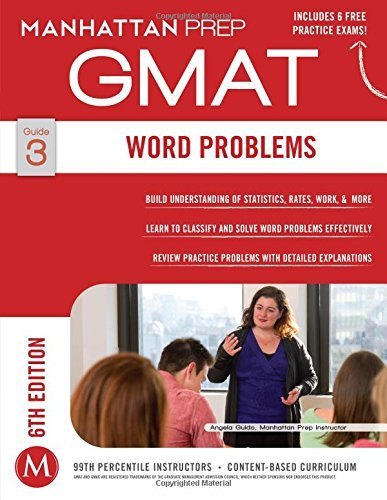 By Manhattan Prep - Word Problems GMAT Strategy Guide, 6th Edition (Instructional Gui (6 Pap/Psc) (2014-12-17) [Paperback]
