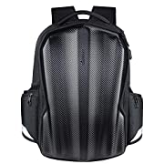 KROSER Travel Laptop Backpack 17.3 Inch Molded Carbon Fiber Gaming Computer Backpack Cool Looking Water-Repellent…