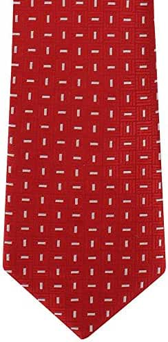 Red/White Classic Dash Silk Tie by Michelsons of London