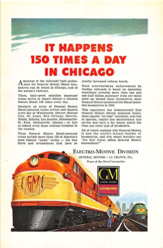 Print Ad 1948 General Motors Locomotives Electro-Motive - Locomotives General Motors