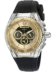 Technomarine Womens TM-115173 Cruise Pearl Analog Display Quartz Black Watch