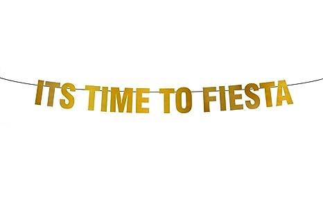 Fiesta - Cartel de Fiesta con texto en inglés