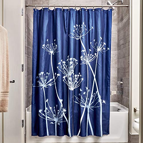InterDesign Thistle Fabric Shower Curtain for Master, Guest, Kids', College Dorm Bathroom, 72