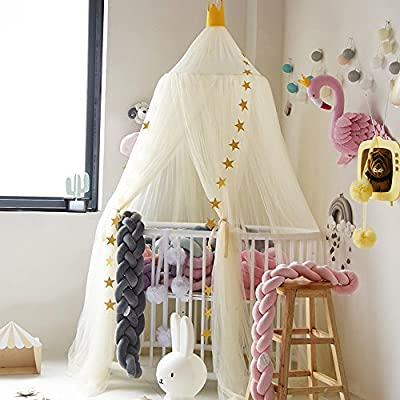 Hoomall Mosquito Net Bed Canopy Round Lace Dome Princess Play Tent Bedding for Baby Kids Children's Room 240cm