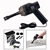 OFKPO Mini USB Keyboard Vacuum Cleaner Dust Collector for Laptop Desktop Computer Mini USB Portable Desktop Dust Cleaner (Black)