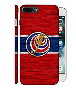 ColorKing Football Costa Rica 11 Red shell case cover for Apple iphone 7 Plus