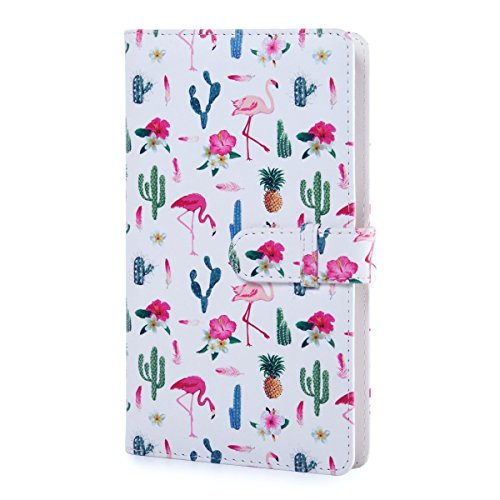 Instax Square Wallet Photo Album, 80 Pockets Film Album, PU Leather Cover for Fujifilm Instax Square SQ10 SQ6 Camera (Flamingo)