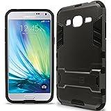 Galaxy J3 V Case, Galaxy J3 Case (2016), CoverON® [Shadow Armor Series] Dual Layer Hybrid Cover Kickstand Phone Case for Samsung Galaxy J3 V / J3 (2016) - Gunmetal Gray & Black