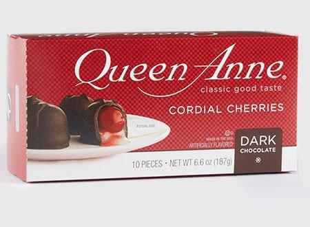Queen Anne, Cherry Cordials, Dark Chocolate, 10 Pieces, 6.6oz Box (Pack of 2) (Dark Chocolate Cherries)
