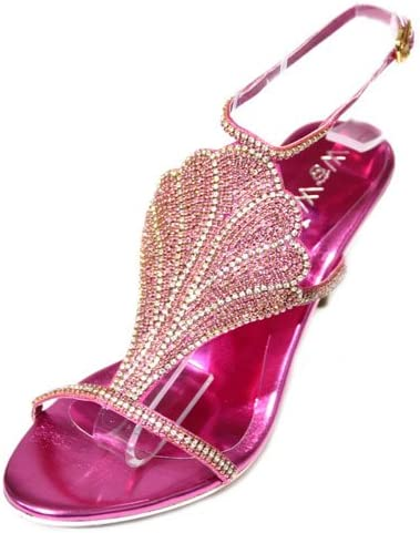 Wear & Walk UK W & W Metal Womens Diamante Wedding