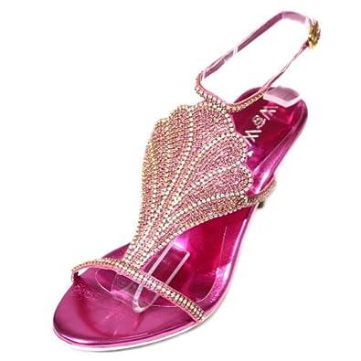 Wear & Walk UK, Sandali donna, rosa (Pink), 36.5