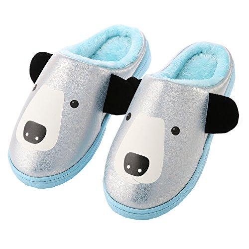 Dibujos animados mono algodón zapatillas de casa-Unisexo invierno calentar felpa Botín con los zapatos UVD8oevFzw