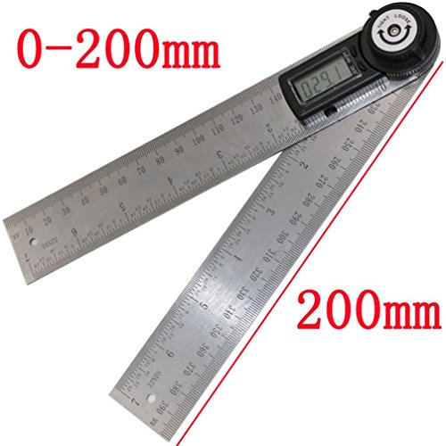 Vibola Electronic 7 inch 360 Degree Digital Angle Rule Ruler Finder Meter Protractor Measuring Ruler Tool