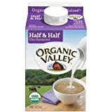 Organic Valley Ultra Pasteurized Half and Half Milk, 16 Ounce -- 12 per case.