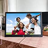 Inverlee 17-Inch Front Touch Screen Button High-Definition Screen Digital Photo Frame Home Office Decoration (Black)