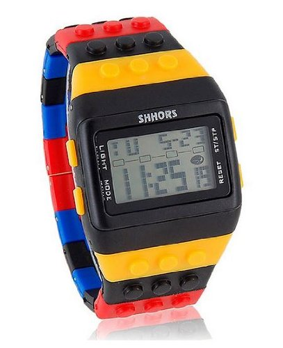 Fashion LED SHHORS Multicolor Rubber Band Sports Wrist Watch Unisex