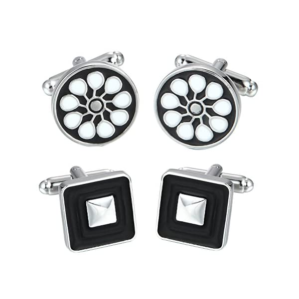 Elegant-Cufflink-Gift-Set-Mens-Cuff-Links-12-Pack