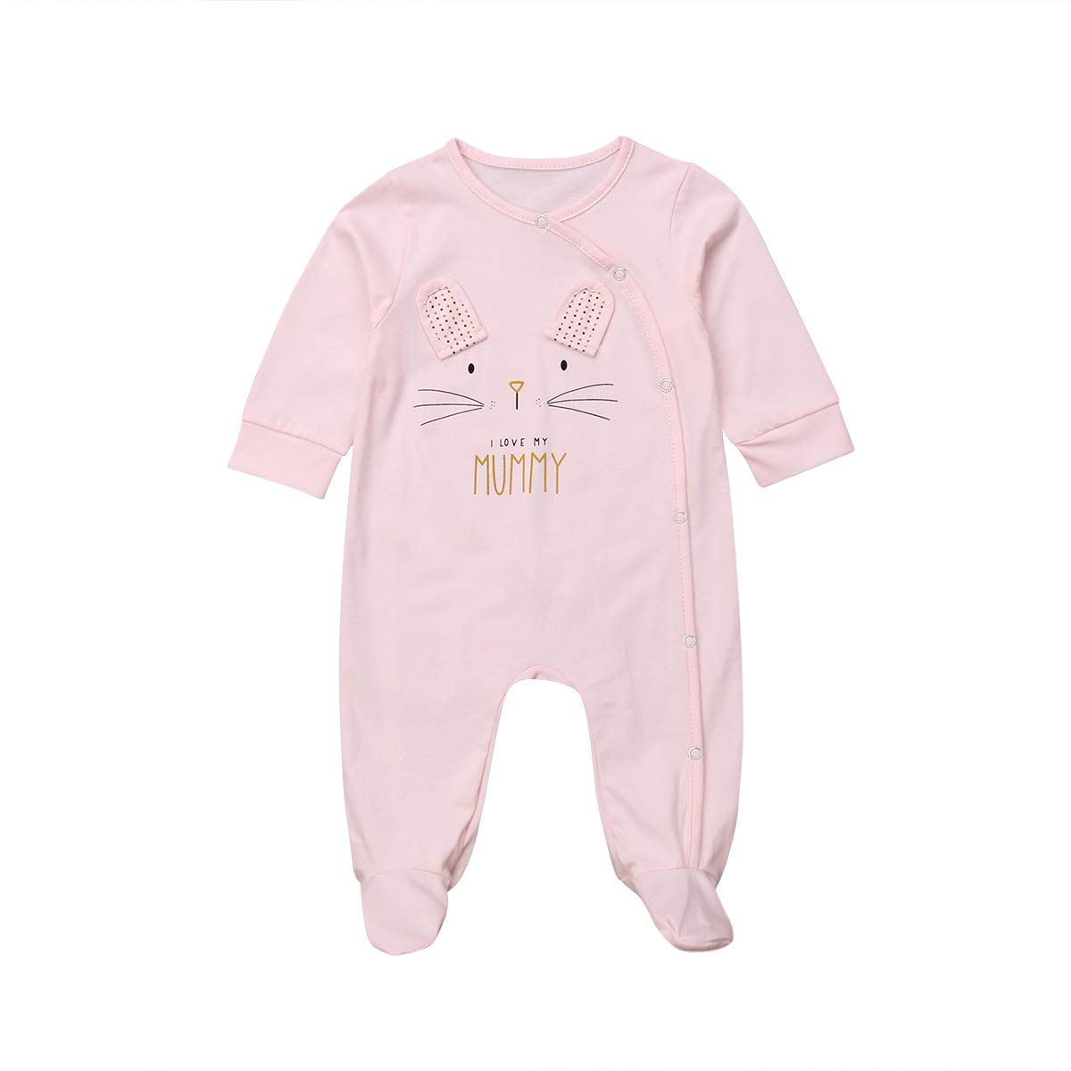 Canrulo Unisex Baby Boys Girls Pajamas Footed Sleeper PJs Long Sleeve Jumpsuit Romper